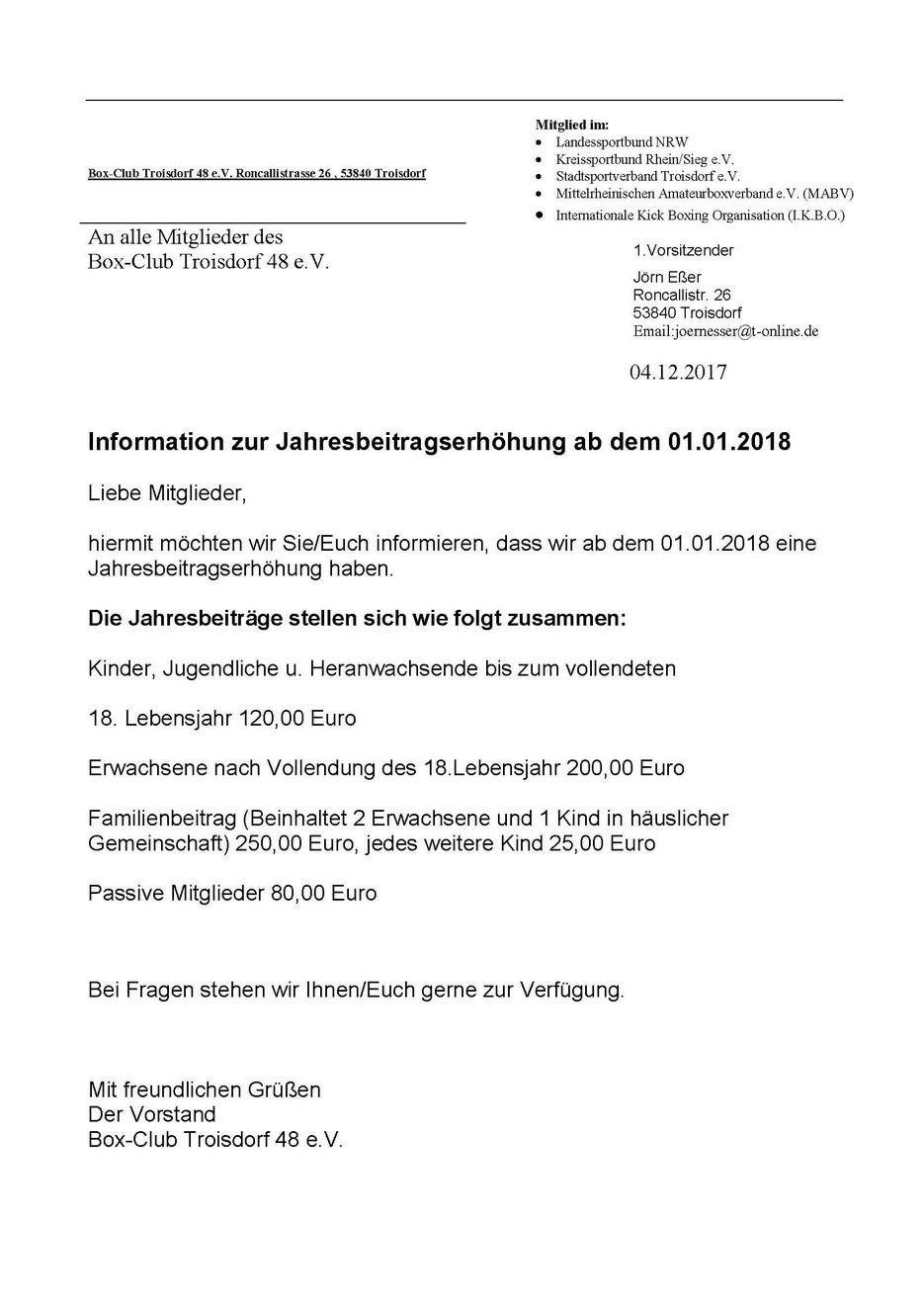 Box Club Troisdorf 48 Ev